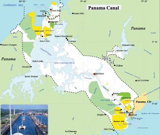 China - Is panama us territory map